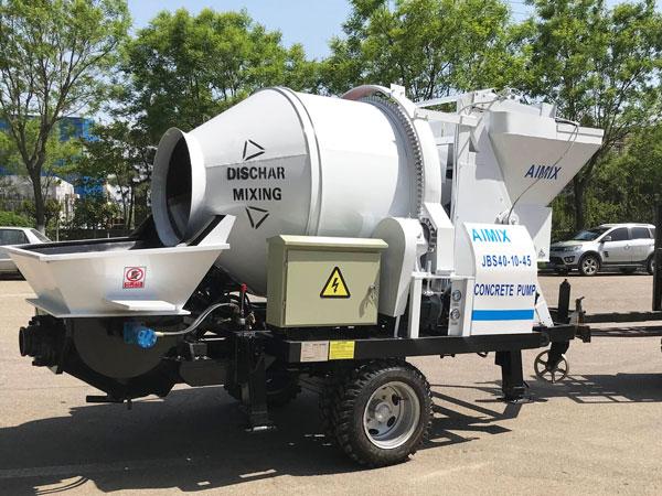 JBS40 electric concrete mixer and pump