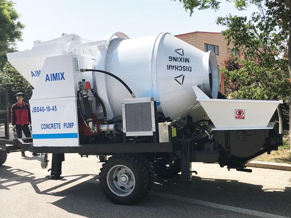 ABJZ40D electric concrete pump and mixer