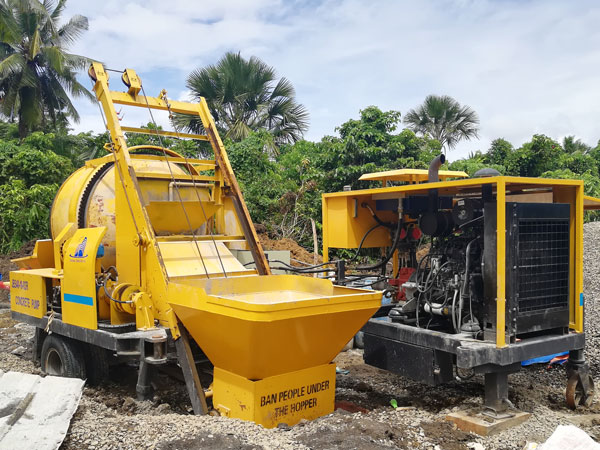 JBS40R diesel concrete mixer with pump Philippines