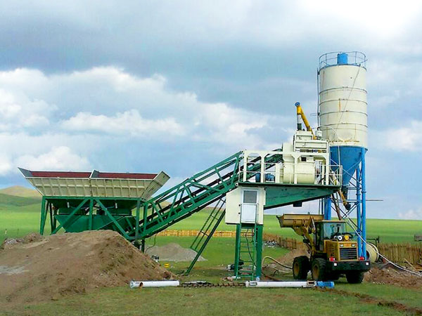 YHZS25 small mobile concrete plant