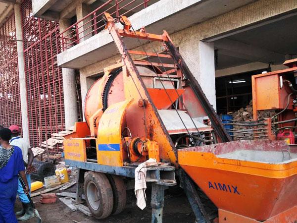 small diesel concrete mixer pump