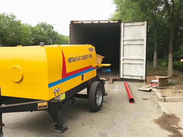 40 trailer concrete pump