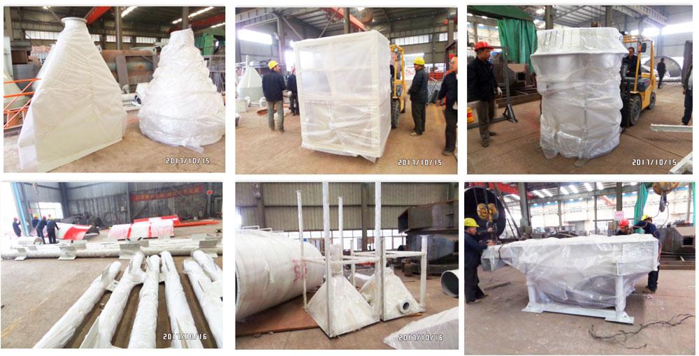 embarque de usina de mistura de gesso seco Peru