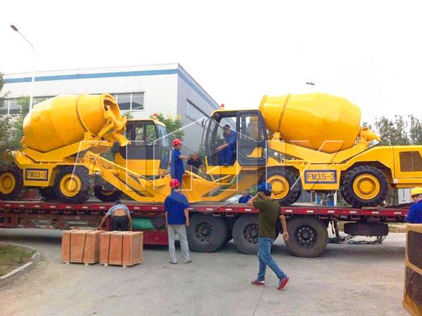 3.5 cub self loading concrete mixer