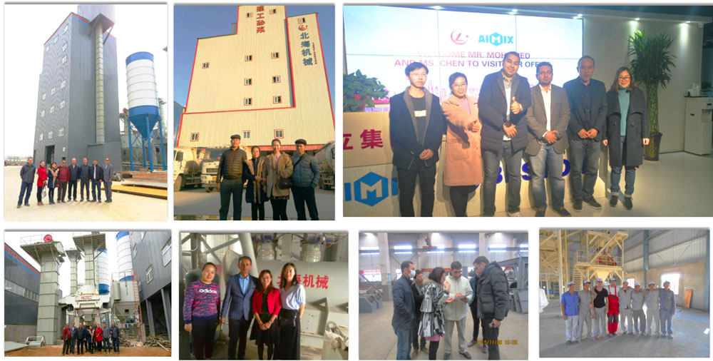 Customers paid a visit to our ready mix plaster plant