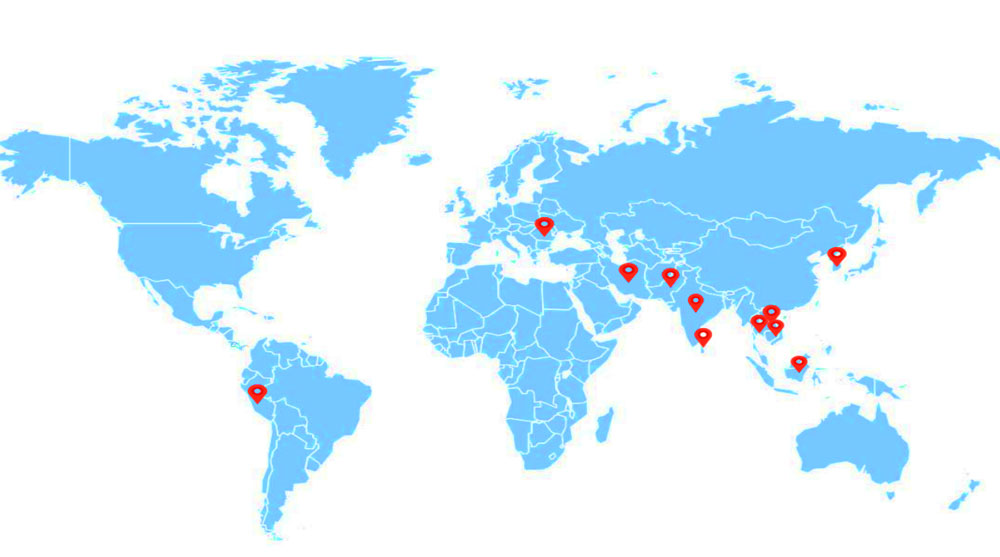 Our ready mix plaster plant is all around the world
