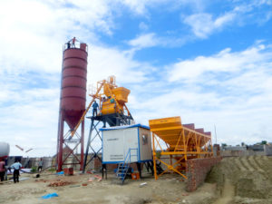 AJ-35 concrete batching plant in Sri-Lanka