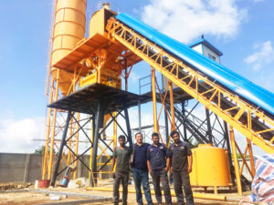 AJ-60 batching plant in Sri-Lanka