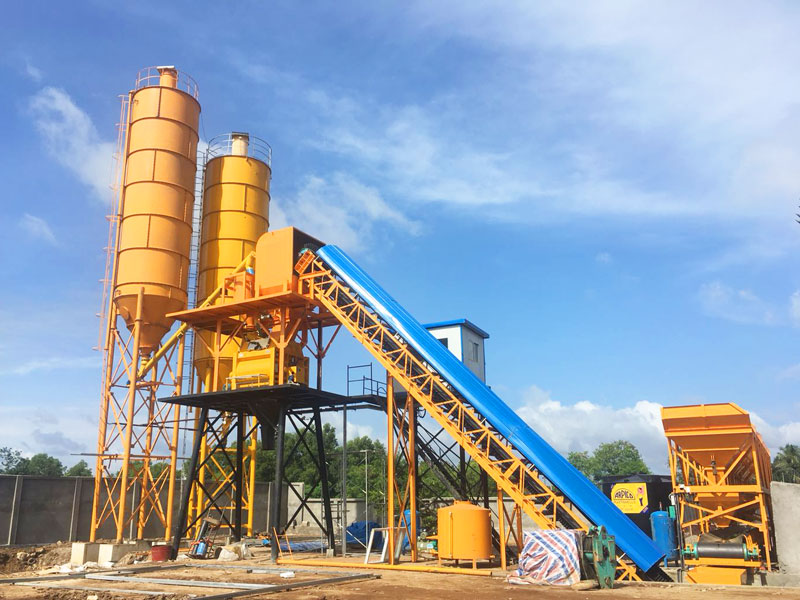 HZS60 stationary concrete batching plant Sri Lanka