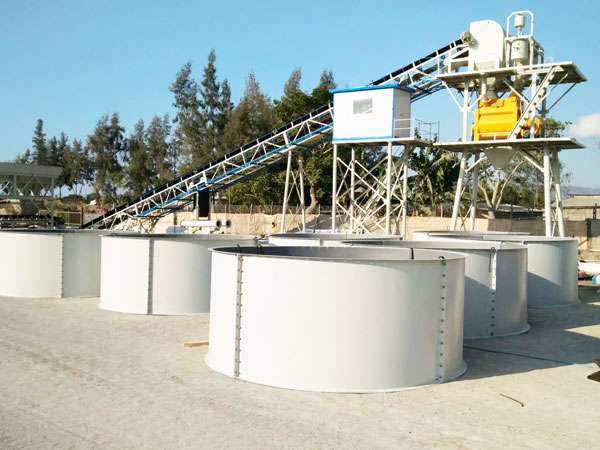 HZS60 stationary concrete plant