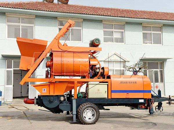 JB40-JS750 concrete mixer with pump
