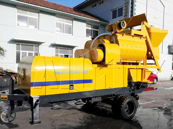JBS40-JS500 mini compulsory concrete mixer pump
