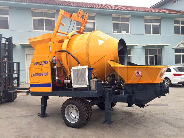 JBS40R-JZC350 mini concrete mixer pump with diesel engine