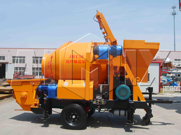 JBT30 concrete mixer trailer pump