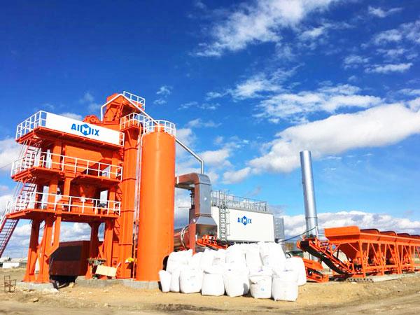 LB1000 asphalt mixing plant Russia