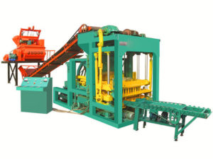 QT4-25 semi automatic interlocking tile machine