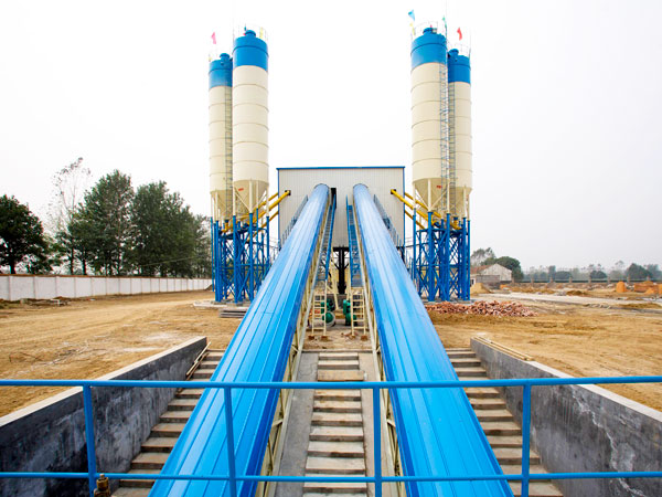 belt conveyor concrete plant