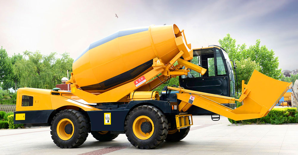 concrete mixer with diesel engine
