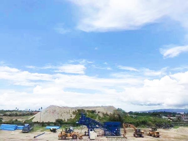 mobile concrete plant YHZS35