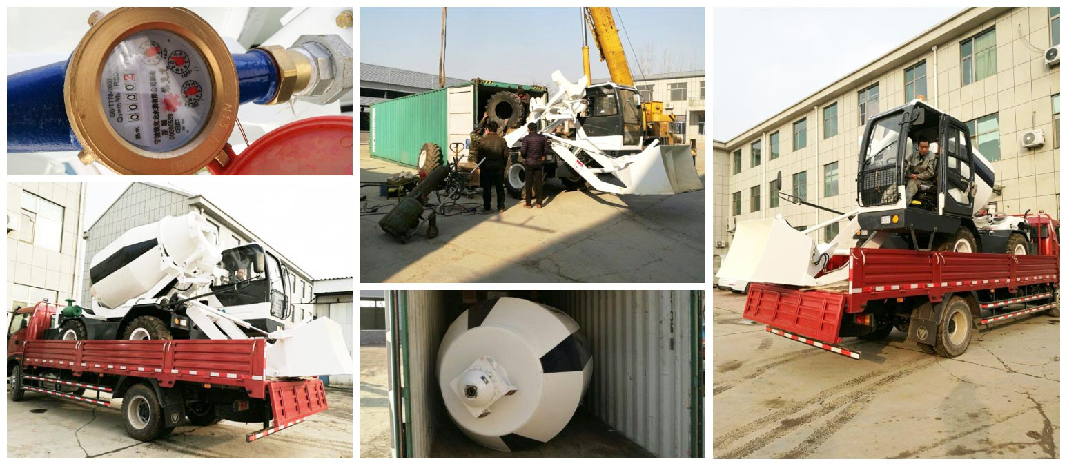 2.5 cub self loading mobile concrete mixer was going to Botswana