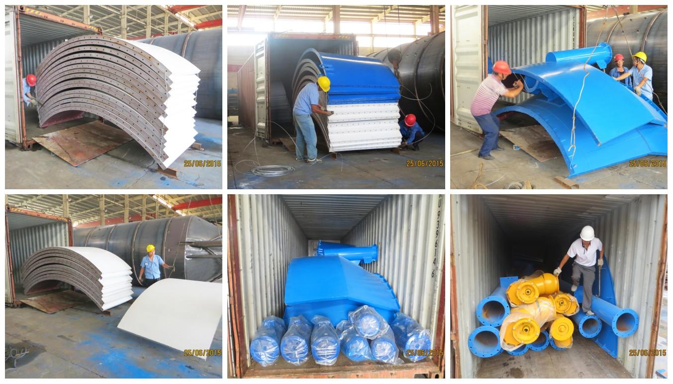 O silo do tipo aparafusado 300t foi enviado para o Uzbequistão