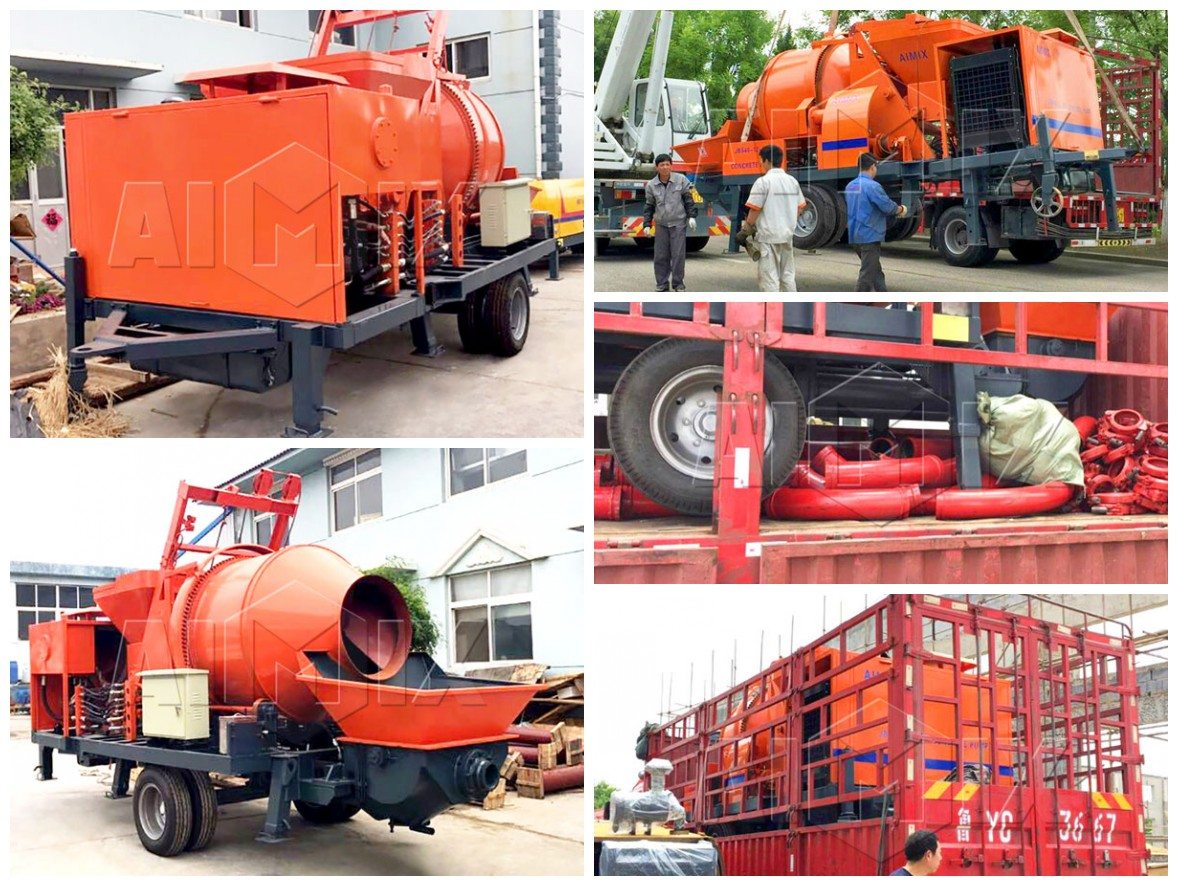 Diesel Concrete Pump With Mixer Was Going To Jordan