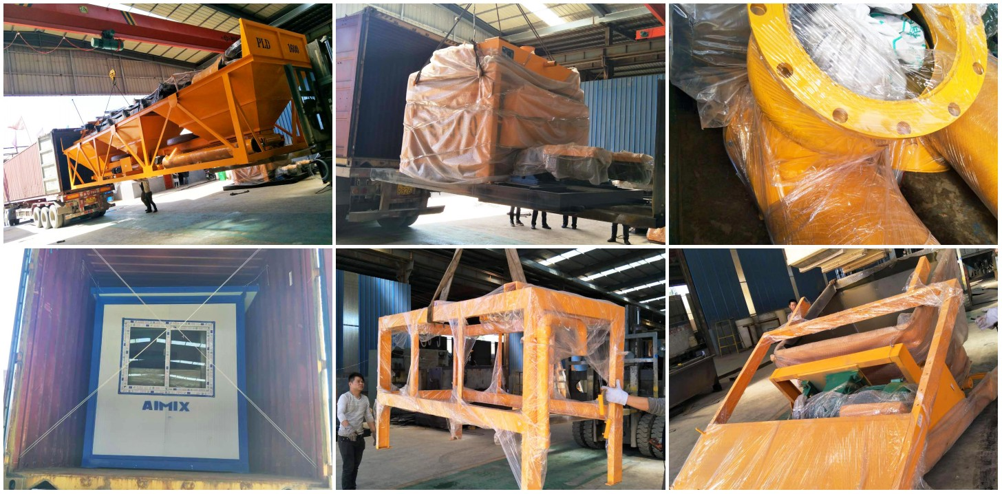 HZS50 Stationary Concrete Batching Plant Was Going To Uzbekistan