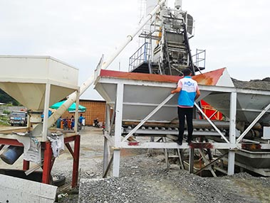 AJ-50 concrete batching plant Philippines