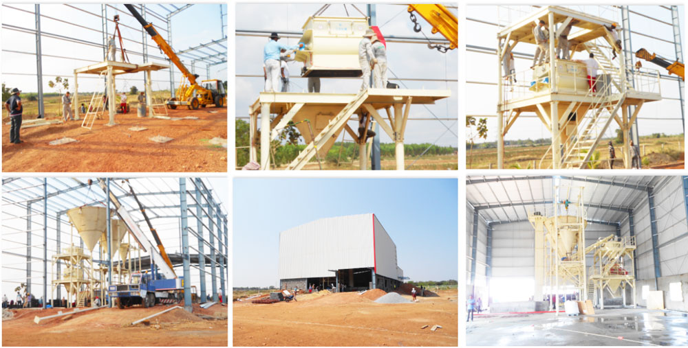 10t/h dry mortar mixing plant was in India