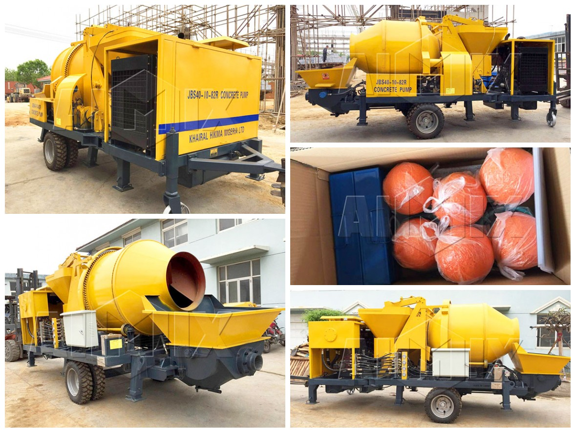 ABJZ40C Concrete Mixer And Pump Was Delivered To Nigeria