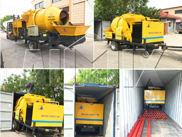 ABJZ40C Diesel Concrete Mixer Pump Was Ready To Philippine