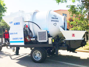 Electric Concrete Pump And Mixer
