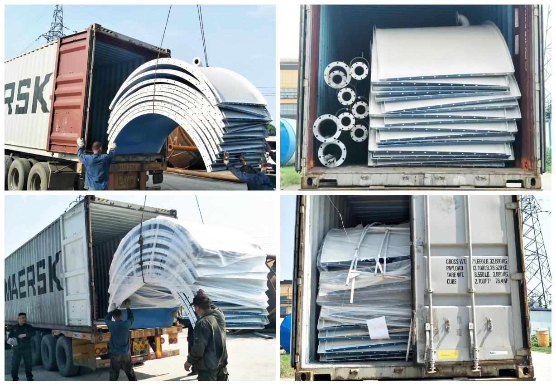 Silo aparafusado de 100 t para planta de dosagem de concreto seco HZG100 na Austrália