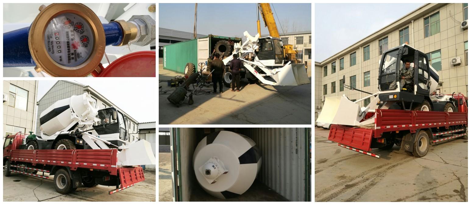 2.5 cub mini self loading concrete mixer was going to Botswana