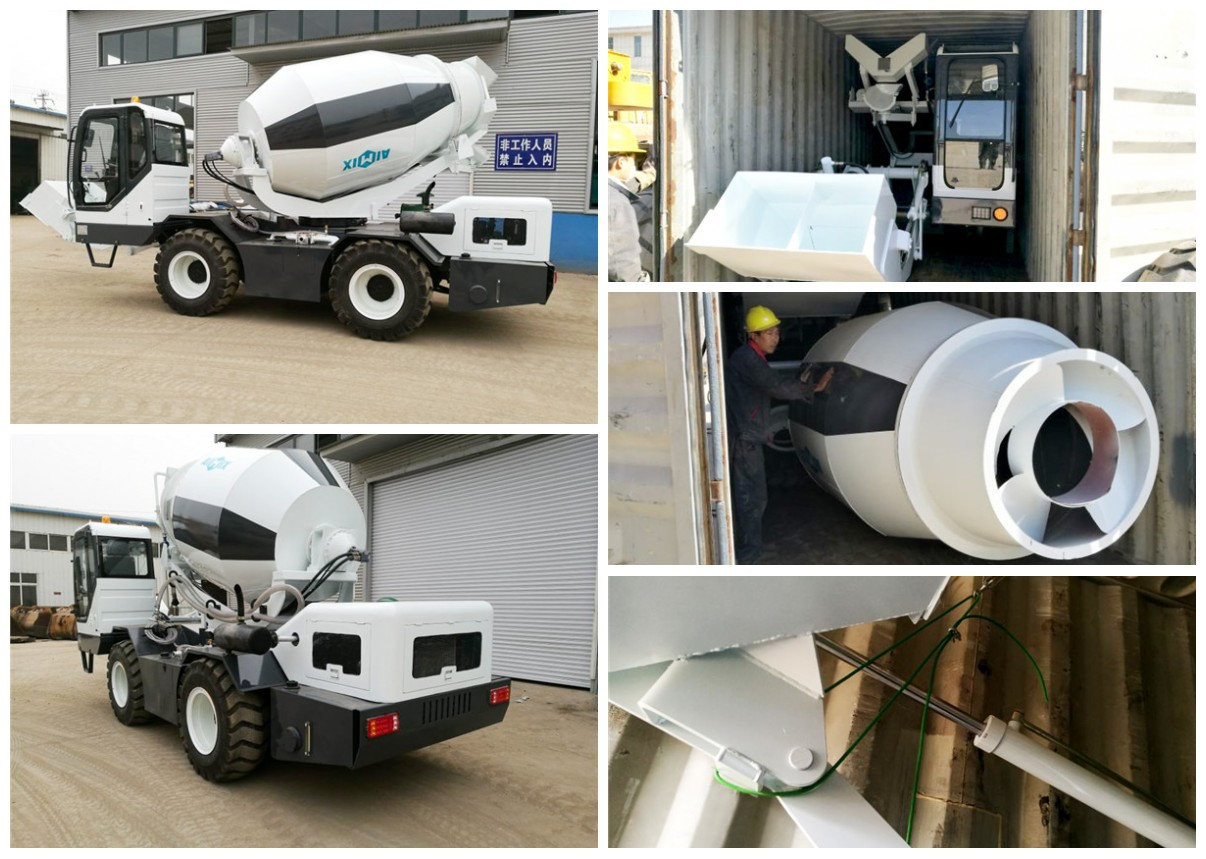 1.2 cub self propelled concrete mixer for sale to Russia