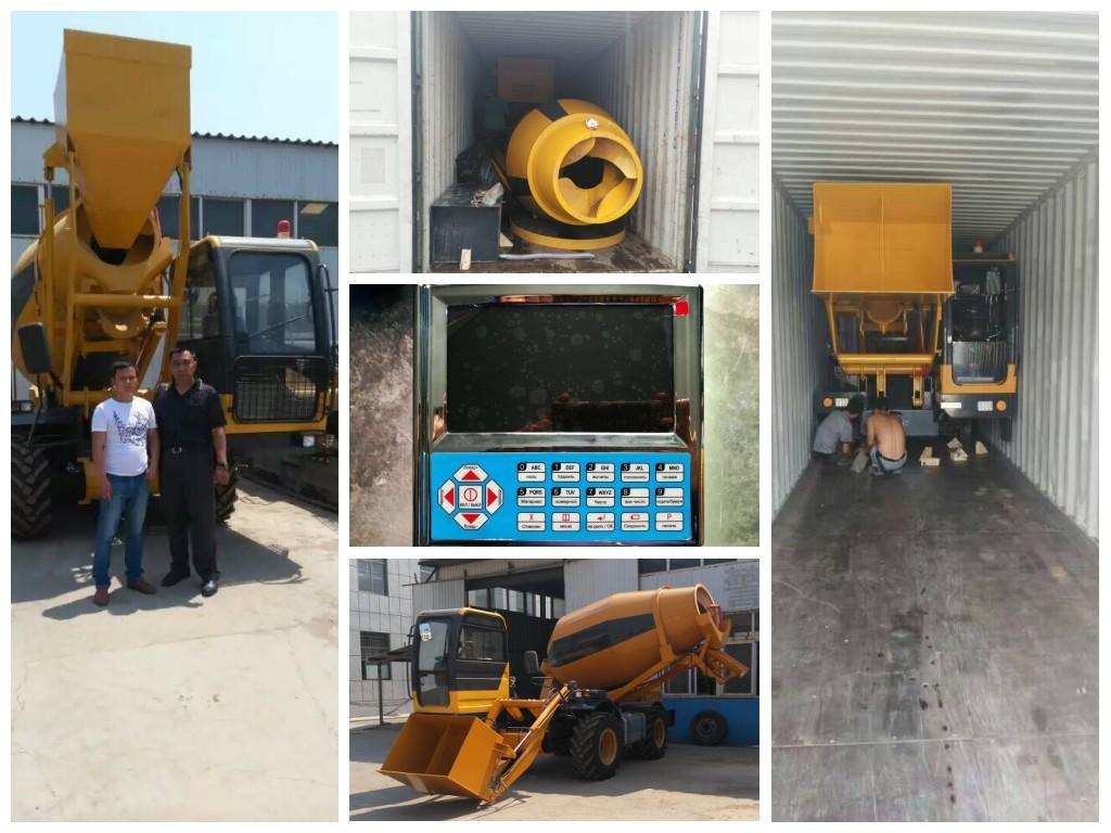 2.5 cub self loading concrete truck mixer for sale was sent to Uzbekistan