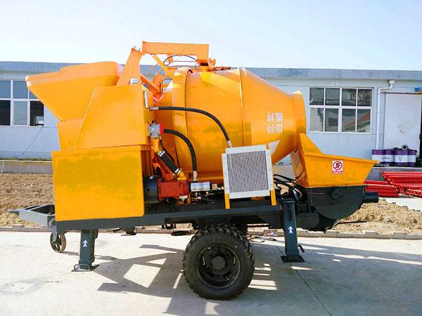 JBS30-JZC350 diesel concrete pump with mixer
