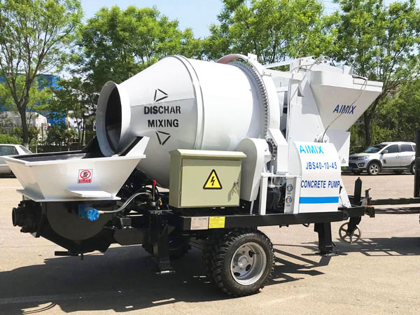 JBS40-JZC350 electric concrete pump mixer