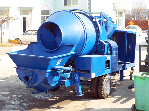 JBS40R-JZC350 diesel concrete pump with mixer