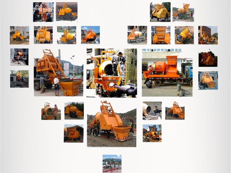 concrete mixer pump construction site