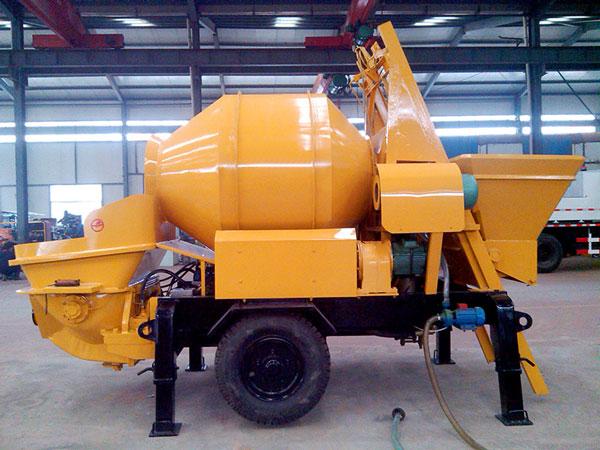 drum concrete mixer pump