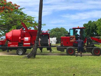 JB40R concrete mixer pump with diesel engine