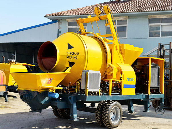 ABJZC40C concrete mixer pump with diesel engine
