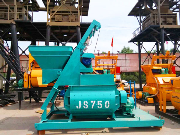 concrete mixer of automatic block machine