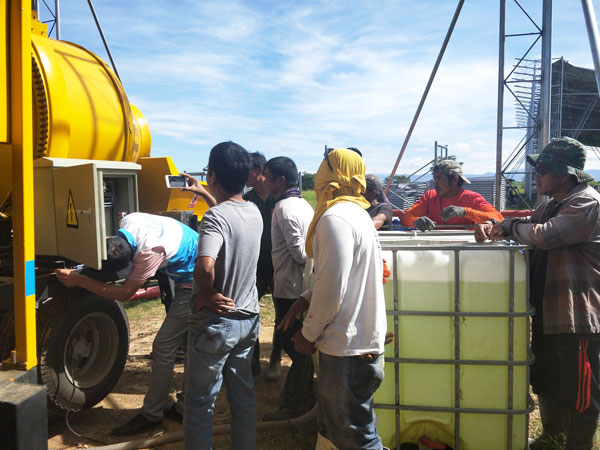 debug of diesel concrete mixer pump