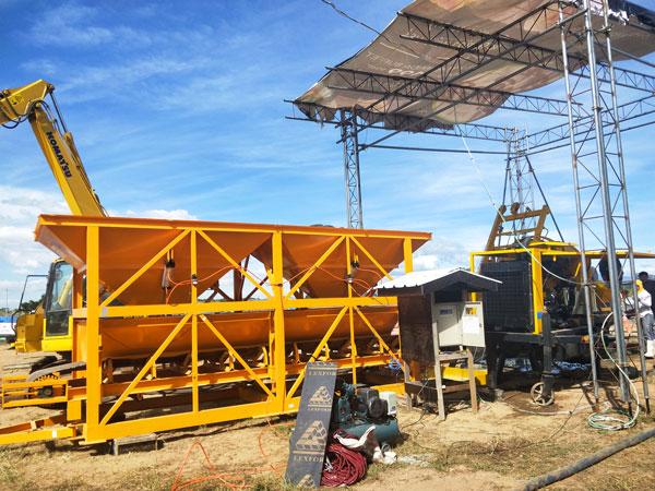 diesel concrete mixer pump construction site