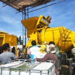 Debug And Test Run Of Diesel Concrete Mixer With Pump Philippines