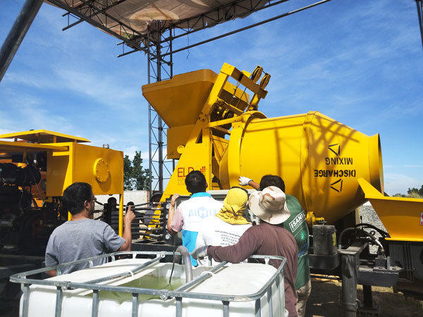 diesel concrete pump with mixer Philippines