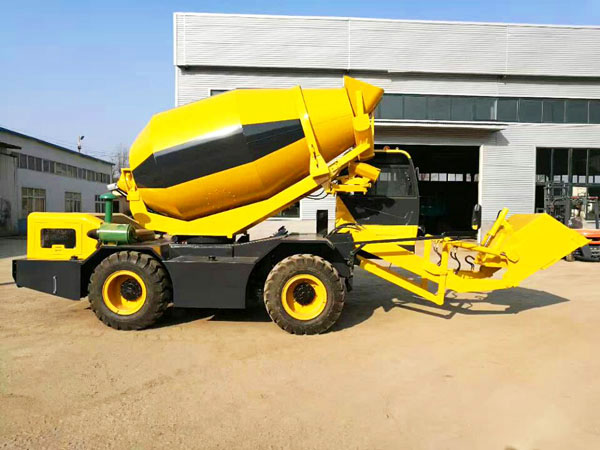 3.5 cub self loading mobile concrete mixer