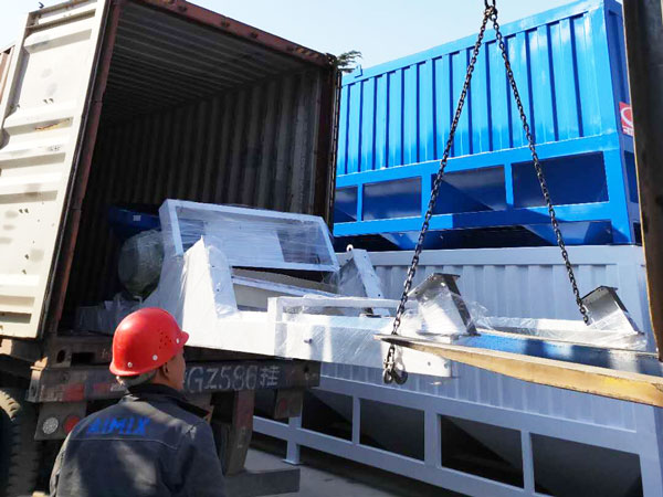 AJ-50 concrete plant shipment